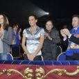 Stéphanie de Monaco et sa fille Pauline Ducruet au chapiteau  Fontvieille, toujours aussi unies, dimanche 22 janvier 2012, pour la  quatrième soirée de spectacle du 36e Festival international du cirque de  Monte-Carlo.
