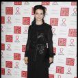 Juliette Binoche au Dîner de la mode pour le Sida au Pavillon d'Armenonville à Paris, le 26 janvier 2012.