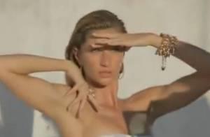 Gisele Bündchen, presque topless, affiche ses jambes sublimes