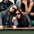 Alysson Paradis et son compagnon à Roland Garros, le 31/05/08