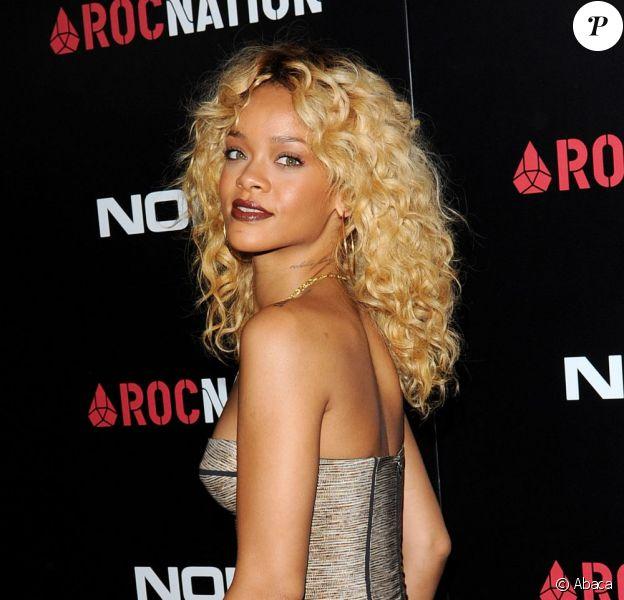 Rihanna lors du brunch organisé à la Soho House, à Los Angeles, en vue des Grammys. Le 11 février 2012