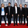 Les Foo Fighters sur le tapis rouge de la cérémonie des 54e Grammy Awards au Staples Center de Los Angeles le 12 février 2012. Les stars étaient nombreuses à être venues accompagnées pour la grand-messe des récompenses musicales américaines.