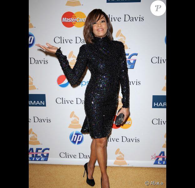 Whitney Houston le 12 février 2011 à Los Angeles