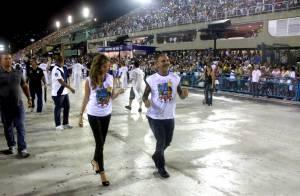 Christian Audigier : Amoureux au bras de sa douce durant le Carnaval de Rio