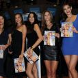 Crystal Renn, Irina Shayk, Jessica Gomes, Nina Agdal et Michelle Vawer tiennent leurs exemplaires de  Sports Illustrated Swimsuit 2012 Issue  à New York, le 14 février 2012.