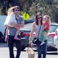 Jennifer Garner, Ben Affleck et leurs deux filles Violet et Seraphina en juillet 2011 à Los Angeles