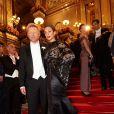 Boris Becker et sa femme Lilly Kerssenberg au 56e Bal de l'Opéra à Vienne.   Comme chaque année, de nombreuses célébrités et personnalités ont assisté en toute élégance au 56e Bal de l'Opéra de Vienne, le 16 février 2012.