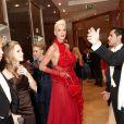Brigitte Nielsen et son mari Mattia Dessi au 56e Bal de l'Opéra de Vienne.   Comme chaque année, de nombreuses célébrités et personnalités ont assisté en toute élégance au 56e Bal de l'Opéra de Vienne, le 16 février 2012.