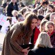 Kate Middleton en visite officielle pour The Art Room (Oxford, le 21 février 2012).