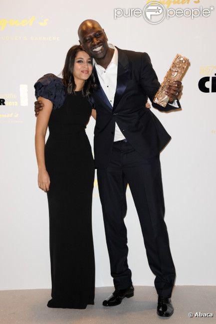 Omar Sy et Leïla Bekhti lors de l'after-party de la 37ème cérémonie des César au Fouquet's, le 24 février 2012