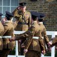 Le prince Charles était en visite à la caserne d'Hounslow pour le jour de la saint David, le 1er mars 2012.