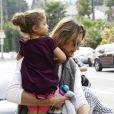 Gabriel Aubry et Nahla, fille qu'il a eue avec Halle Berry, le 11 janvier 2012 à Los Angeles.