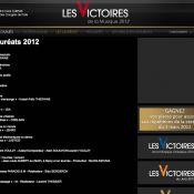 Victoires 2012 - palmarès : Thiéfaine, Aubert, Ringer, le triomphe des 'anciens'