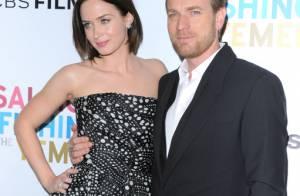 Ewan McGregor, beau gosse pour la belle Emily Blunt et sa femme Eve Mavrakis