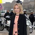 Dianna Agron lors de son arrivée au défilé Louis Vuitton le 7 mars 2012