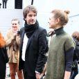 Antoine Arnault et Natalia Vodianova lors de leur arrivée au défilé Louis Vuitton le 7 mars 2012