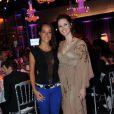Sandra Lou et Karine Lima lors de la soirée Innocence en danger, au Pavillon Gabriel, le 8 mars 2012