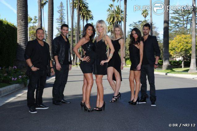 Kamel, Kévin, Ayem, Caroline, Chloé, Sandra et Nicolas dans