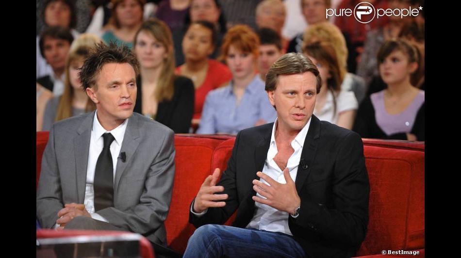 Bien-aimé Claude François Jr et Marc François lors de l'enregistrement de  DF83
