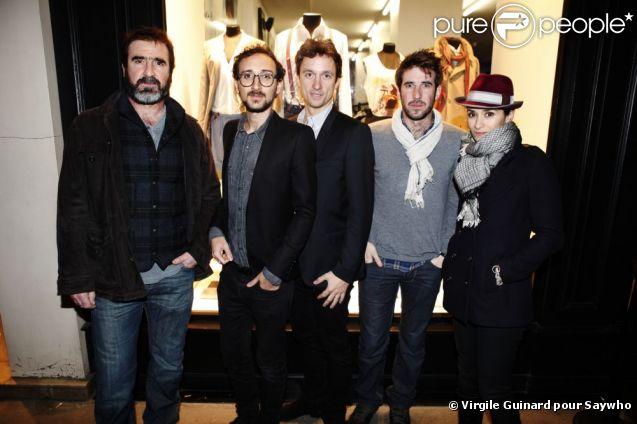 Rachida Brakni et Eric Cantona à la soirée The Kooples organisée à Paris le 13 mars 2012