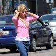 Entre deux prises, Julianne Hough sur le tournage du nouveau film de Diablo Cody, à la Nouvelle-Orléans, le 14 mars 2012