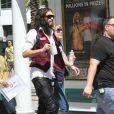 Russell Brand sur le tournage du nouveau film de Diablo Cody, à la Nouvelle-Orléans, le 14 mars 2012