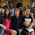 Alicia Keys, Paul McCartney et son épouse Nancy Shevell au premier rang du défilé Stella McCartney à Paris, le 5 mars 2012.