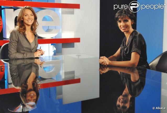 Melissa Theuriau en septembre 2007 sur le plateau de  Zone interdite  (M6) aux côtés de Rachida Dati