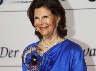 La reine Silvia, fière jeune grand-mère, superbe pour recevoir son Steiger Award