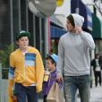 David Beckham et ses fils Brooklyn et Cruz le 17 mars 2012 à Los Angeles