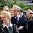 Daniel Bilalian aux obsèques d'Olivier Rey, mort le 19 mars 2012 à 56 ans, célébrées le 24 mars en l'église Saint-Justin de Levallois-Perret (Hauts-de-Seine), en présence de personnalités du sport et des médias.