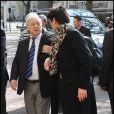 Eugène Saccomano lors des obsèques d'Olivier Rey, mort le 19 mars 2012 à 56 ans, célébrées le 24 mars en l'église Saint-Justin de Levallois-Perret (Hauts-de-Seine), en présence de personnalités du sport et des médias.