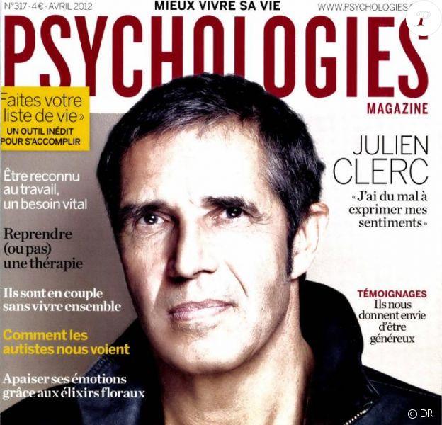 Julien Clerc en couverture de Psychologies Magazine, avril 2012.