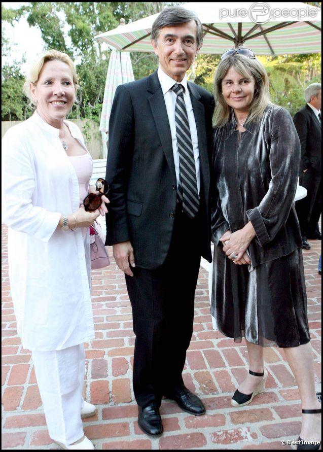Dominique Cantien et Philippe Douste-Blazy en 2007 à Beverly Hills ...