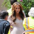 Jennifer Love Hewitt, sublime, sur le tournage de The Client List, le 27 mars 2012 à Los Angeles