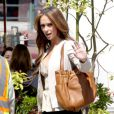 Jennifer Love Hewitt sur le tournage de The Client List, le 27 mars 2012 à Los Angeles