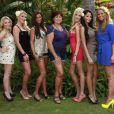 Myriam, Amélie, Julia, Catherine, Marie, Nabila et Aurélie dans Les Anges de la télé-réalité 4 : Club Hawaï sur NRJ 12 dès le 16 avril 2012