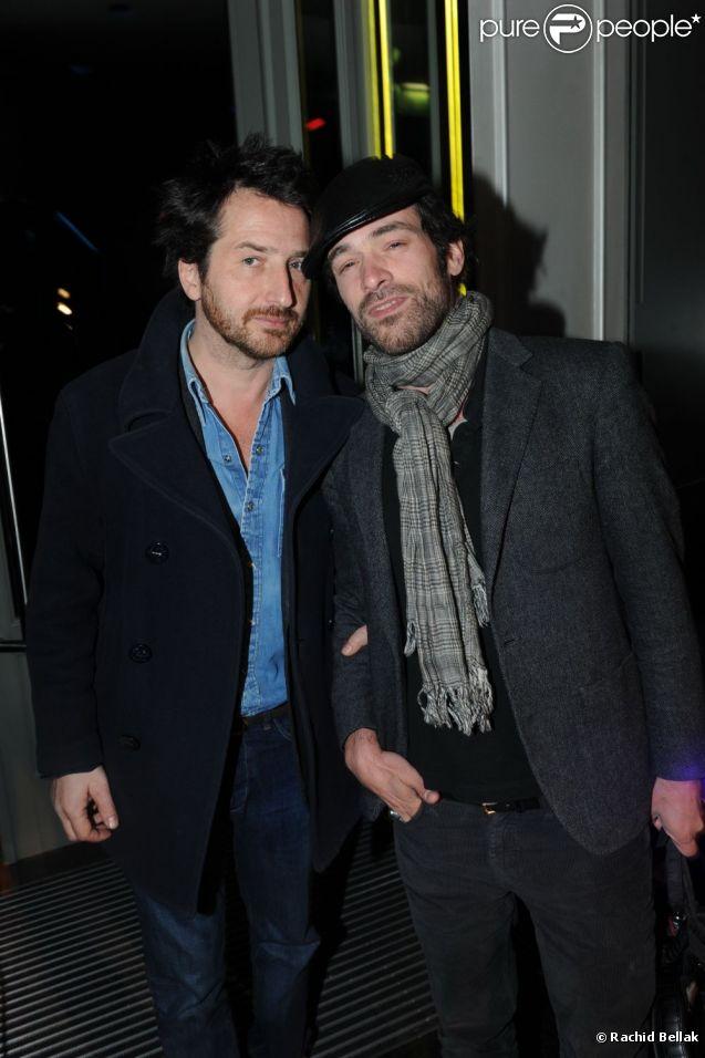 Inauguration du W Hôtel Opéra à Paris, le 29 mars 2012 avec Edouard Baer et Romain Duris