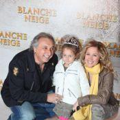 Lara Fabian et Gérard Pullicino avec leur fille, craquante face à Blanche-Neige