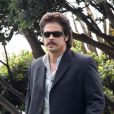Benicio Del Toro sur le tournage de  Savages , en septembre 2011 en Californie.