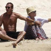 Gwen Stefani, sexy, prend un bain de soleil avec son chéri et ses enfants