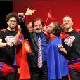 Christophe Alévêque lors du filage de sa pièce,  Super Rebelle... et candidat libre ! , au théâtre du Rond-Point à Paris le 10 avril 2012