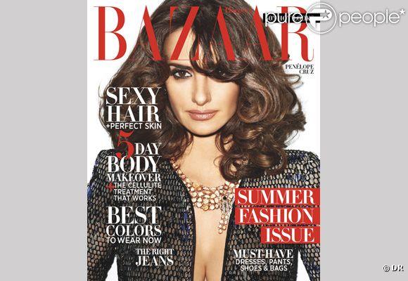 Penélope Cruz en couverture du magazine Harper's Bazaar