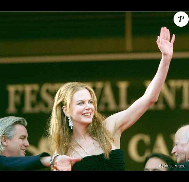 Nicole Kidman au festival de Cannes 2001, lors de la présentation de Moulin Rouge ! de Baz Luhrman.