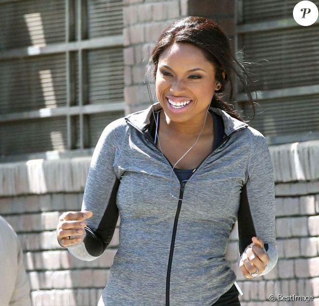 Jennifer Hudson tourne une publicité pour Weight Watchers à Los Angeles le 15 avril 2012