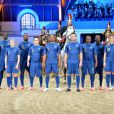 Nike présente le nouveaux maillot de l'équipe de France dans le manège du quartier des Célestins de la Garde Républicaine à Paris le 16 avril 2012