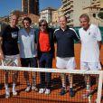 Le prince Albert II de Monaco disputait le 21 avril 2012 un double exhibition avec Arnaud Boetsch, Guy Forget et PPDA, sous l'arbitrage d'Ilie Nastase, dans le cadre du Rolex Masters 1000 de Monte-Carlo.