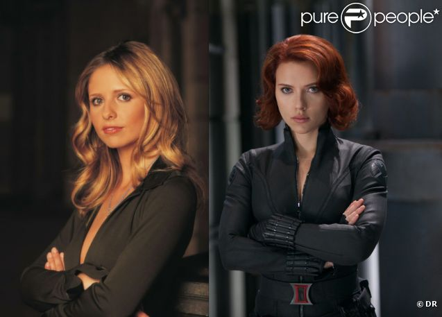 Sarah Michelle Gellar, inoubliable  Buffy contre les vampires  & Scarlett Johansson, espionne sexy des  Avengers  : deux super-héroïnes ancrées dans l'univers de Joss Whedon.