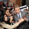 Chris Hemsworth lors de l'avant-première à New York dans le cadre du festival de Tribeca du film Avengers, le 28 avril 2012