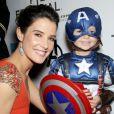 Cobie Smulders lors de l'avant-première à New York dans le cadre du festival de Tribeca du film Avengers, le 28 avril 2012